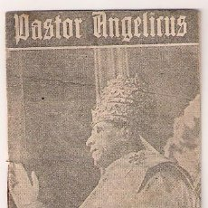 Cine: PASTOR ANGELICUS PROGRAMA LIBRITO CINE RELIGIOSO PIO XII. Lote 24315701