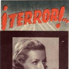 Cine: PROGRAMA CINE DOBLE - ¡TERROR! - LAURA SOLARI - ANDRES ENGELMAN - PLAZA DE TOROS - CÓRDOBA . Lote 24366609