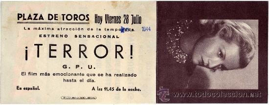 Cine: PROGRAMA CINE DOBLE - ¡TERROR! - LAURA SOLARI - ANDRES ENGELMAN - Plaza de Toros - Córdoba - Foto 2 - 24366609