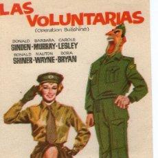Cine: FOLLETO DE CINE - LAS VOLUNTARIAS- . Lote 24416784
