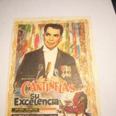Cine: CANTINFLAS SU EXCELENCIA. SENCILLO DE MUNDIAL FILMS.. Lote 24434724