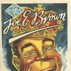 Cinema: PROGRAMA DE MANO DEL FILM NACIO PARA REY CON JOE E. BROWN. Lote 24440189