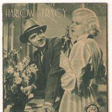 Cine: POLVORILLA PROGRAMA DOBLE MGM JEAN HARLOW LEE TRACY VICTOR FLEMING INTERIOR VERDE 2. Lote 24491015