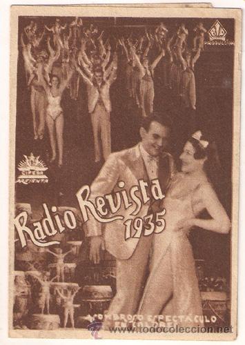 RADIO REVISTA 1935 PROGRAMA DOBLE CIFESA PERIS ARAGO RARO (Cine - Folletos de Mano - Musicales)