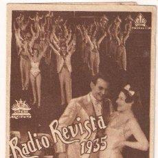 Cine: RADIO REVISTA 1935 PROGRAMA DOBLE CIFESA PERIS ARAGO RARO. Lote 24496957