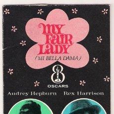 Cine: MY FAIR LADY PROGRAMA DOBLE AGENDA CALENDARIO AUDREY HEPBURN REX HARRISON. Lote 24499590