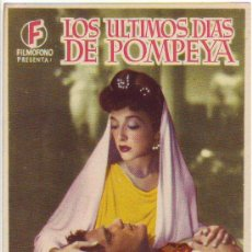 Cine: LOS ULTIMOS DIAS DE POMPEYA. Lote 24640837