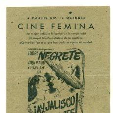 Cinema - AY JALISCO NO TE RAJES - GUIA CANCIONERO DE PROCINES 2 PGS. - 26909568