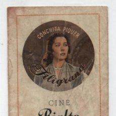 Cine - Filigrana. Conchita Piquer. Programa cancionero (8 págs.) de Hernan Films. Publicidad Cine Rialto - 24762638