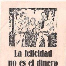 Cine: LA FELICIDAD NO ES EL DINERO PROGRAMA DOBLE LIEN DEYERS HERMAN THIMIG. Lote 24794230