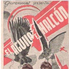 Cine: EL AGUILA Y EL HALCON PROGRAMA DOBLE PARAMOUNT CARY GRANT CAROLE LOMBARD FREDRIC MARCH. Lote 24801851