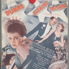 Cine: ROBERTA PROGRAMA DOBLE GRANDE RKO FRED ASTAIRE GINGER ROGERS IRENE DUNNE RANDOLPH SCOTT. Lote 24816460