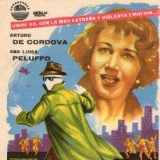 Cine: EL HOMBRE QUE LOGRO SER INVISIBLE - CINEDIA- ARTURO DE CORDOVA, A. PELUFFO - PROGRAMA CINE ORIGINAL. Lote 168196334
