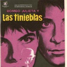 Cine: ROMEO, JULIETA Y LAS TINIEBLAS - DISCENTRO - IVAN MISTRIK - PROGRAMA CINE ORIGINAL. Lote 35193893