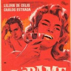 Cine: JURAME - NUEVA FILMS - LILIAN DE CELIS, CARLOS ESTRADA, ANTONIO OZORES - PROGRAMA CINE ORIGINAL. Lote 194244356