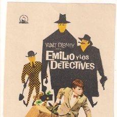 Cine: PR2 EMILIO Y LOS DETECTIVES PROGRAMA SENCILLO DIPENFA WALT DISNEY RARO. Lote 24824356