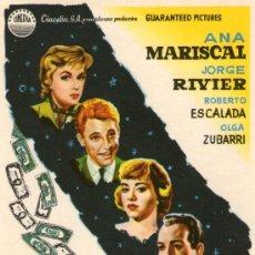 Cine: DE NOCHE TAMBIEN SE DUERME - CINEDIA - ANA MARISCAL, JORGE RIVIER - PROGRAMA CINE ORIGINAL. Lote 194244583