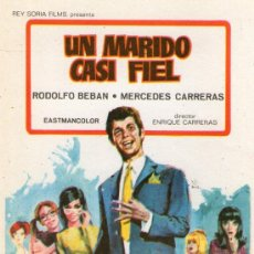 Cine: UN MARIDO CASI FIEL - REY SORIA FILMS - RODOLFO BEBAN, MERCEDES CARRERAS - PROGRAMA CINE ORIGINAL. Lote 35194035