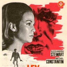 Cine: LA LEY DEL SUPERVIVIENTE - AS FILMS - ALEXANDRA STEWART, MICHEL CONSTANTIN - PROGRAMA CINE ORIGINAL. Lote 168199342