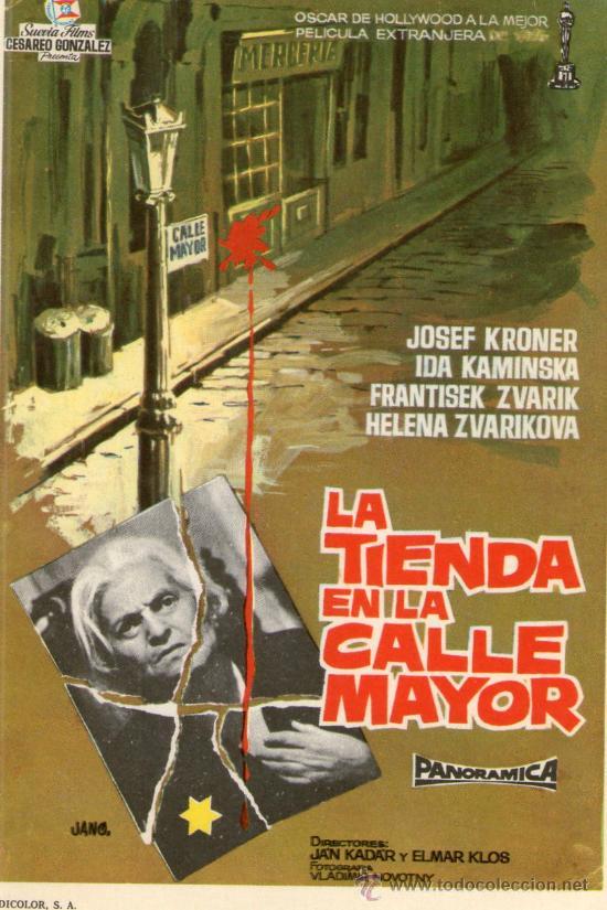 LA TIENDA EN LA CALLE MAYOR - SUEVIA FILMS - JOSEF KRONER - PROGRAMA CINE ORIGINAL 1 OSCAR (Cine - Folletos de Mano - Suspense)