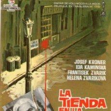 Cine: LA TIENDA EN LA CALLE MAYOR - SUEVIA FILMS - JOSEF KRONER - PROGRAMA CINE ORIGINAL 1 OSCAR. Lote 27324227