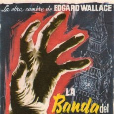 Cine: LA BANDA DEL TERROR - FUCHSBERGER, KARIN DOR - PROGRAMA CINE ORIGINAL. Lote 168199105
