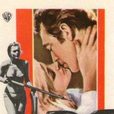 Cine: NO BESES A UN EXTRAÑO - WARNER BROS - PAUL BURKE, CAROL LYNLEY - PROGRAMA CINE ORIGINAL. Lote 27400339