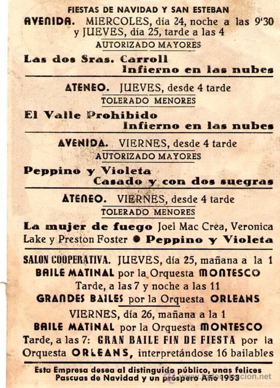 Cine: PEPPINO Y VIOLETA-PROCINES-VITTORIO MANUNTA,DENIS O´DEA-Programa cine Original ESPECIAL NAVIDAD - Foto 2 - 27424606