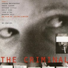 Cine: THE CRIMINAL - STEVEN MACKINTOSH - PROGRAMA DE MAN0 CINE POSTAL. Lote 27509423