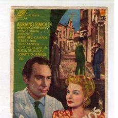 Cine: BORRASCA DE CELOS - ADRIANO RIMOLDI - AÑO 1946 - PUBLICIDAD EN CINE TORCAL. Lote 25152349