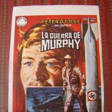 Cine: LA GUERRA DE MURPHY, PETER O´TOOLE, PHILIPPE NOIRET. S/P.. Lote 25267538
