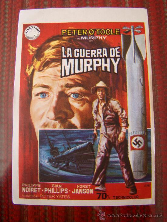 LA GUERRA DE MURPHY, PETER O´TOOLE, PHILIPPE NOIRET. S/P. (Cine - Folletos de Mano - Bélicas)
