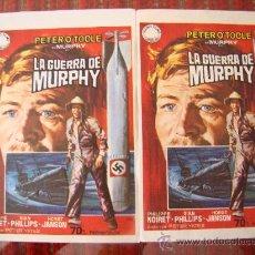 Cine: LA GUERRA DE MURPHY, PETER O´TOOLE, PHILIPPE NOIRET. LOTE DE 2 PROGRAMAS .S/P.. Lote 25267649