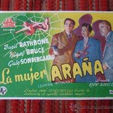 Cine: LA MUJER ARAÑA, BASIL RATHBONE, NIGEL BRUCE, S/P.. Lote 34176114