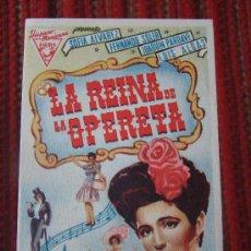 Cinema - LA REINA DE LA OPERETA, SOFIA ALVAREZ, FERNANDO SOLER, C/P. CINE ALKAZAR. ALB - 26807337