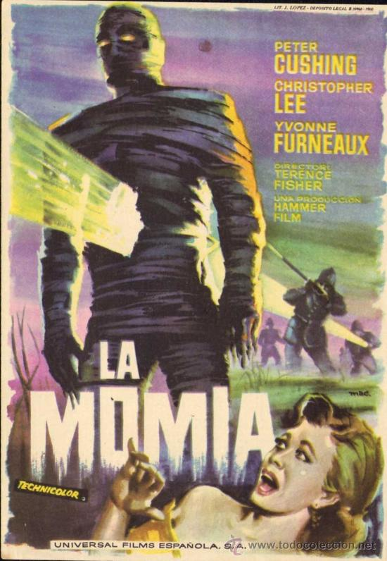 LA MOMIA - CHRISTOPHER LEE - PETER CUSHING - HAMMER - TERENCE FISHER - UNIVERSAL - MAC (Cine - Folletos de Mano)