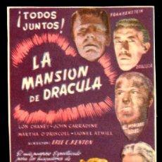 Cine: LON CHANEY - LA MANSION DE DRACULA - CIFESA - FRANKENSTEIN - EL HOMBRE LOBO -. Lote 25536172