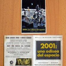 Flyers Publicitaires de films Anciens: 2001: UNA ODISEA DEL ESPACIO - 2 PROGRAMAS DIFERENTES - CON PUBLICIDAD. Lote 25745045
