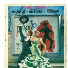 Cine: MARISOL - LA NUEVA CENICIENTA - PROGRAMA ORIGINAL SIN PUBLICIDAD. Lote 31569905