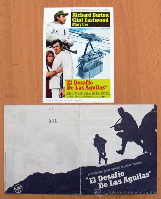 EL DESAFIO DE LAS ÁGUILAS - 2 PROGRAMAS DIFERENTES - CON PUBLICIDAD (Cine - Folletos de Mano - Bélicas)