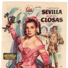 Cine: LA FIERECILLA DOMADA PROGRAMA SENCILLO CEA CINE ESPAÑOL CARMEN SEVILLA ALBERTO CLOSAS RARO. Lote 26061738
