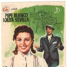 Cine: LA CHICA DEL BARRIO PROGRAMA SENCILLO CEA CINE ESPAÑOL PEPE BLANCO LOLITA SEVILLA JOSE ISBERT RARO. Lote 26061752