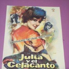 Cine: JULIA Y EL CELACANTO (CONCHITA VELASCO / TONY LEBLANC / VIRGILIO TEIXEIRA). Lote 26801707