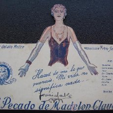 Cine: EL PECADO DE MADELON CLAUDET. Lote 26147616