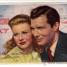 Cine: PROGRAMA DE CINE - ESPEJISMO DE AMOR - GINGER ROGERS - AÑO 1940 - CON PUBLICIDAD. Lote 26180783