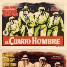 Cine: VARIACION - DOS PROGRAMAS - EL CUARTO HOMBRE - JOHN PAYNE - PHIL KARLSON - PROCINES. Lote 26383146