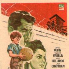 Cine: EL NIÑO Y EL MURO - PELIMEX - DANIEL GELIN, YOLANDA VARELA, NINO DEL ARCO - PROGRAMA CINE ORIGINAL. Lote 222821562