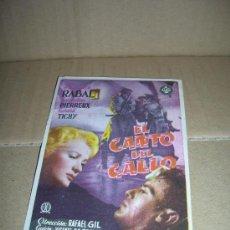 Cine: EL CANTO DEL GALLO, CON FRANCISCO RABAL, JACQUELINE PIERREUX, GERARD TICHY. CINES DE ONDA, 1955.. Lote 26868229