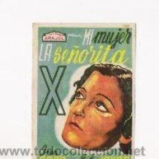 Cine: MI MUJER LA SEÑORITA X PROGRAMA DE MANO ORIGINAL ARAJOL IREN AGAR, PUBLICIDAD POR DETRAS. Lote 27156866