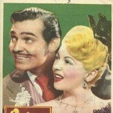 Cinema: PROGRAMA DE MANO DEL FILM QUIERO A ESE HOMBRE CON CLARK GABLE. Lote 27180760
